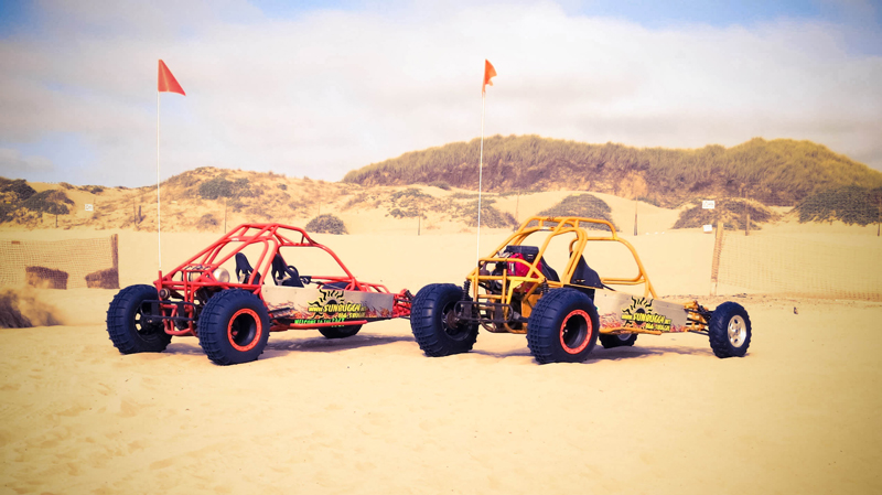 Racing a Dune Buggy in the Desert