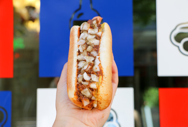 Mat Franco Dog at Haute Doggery (The Linq)