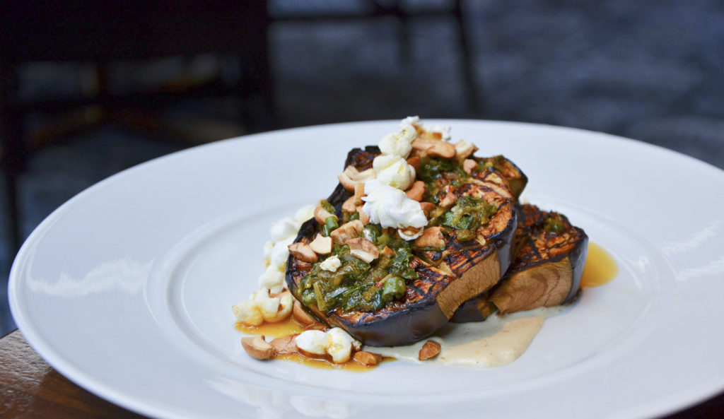 Grilled Eggplant at Heritage Steak