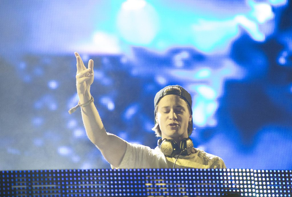 Close up of Kygo playing a music festival in vegas