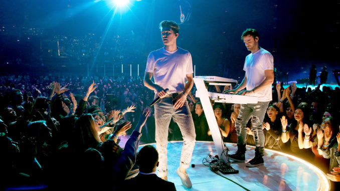 The Chainsmokers in Vegas, performing at Exodus 2019