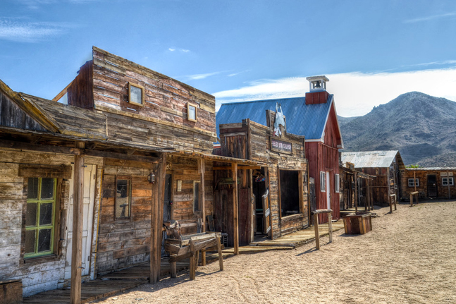 Abandoned buildings in Chloride Ghost Town