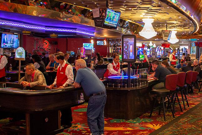 A busy casino in Las Vegas