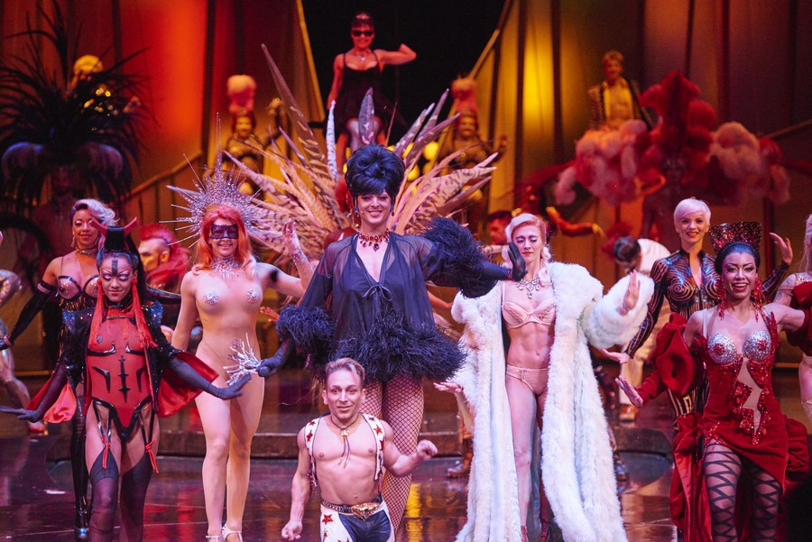 The Zumanity by Cirque du Soleil cast putting on a show in Las Vegas
