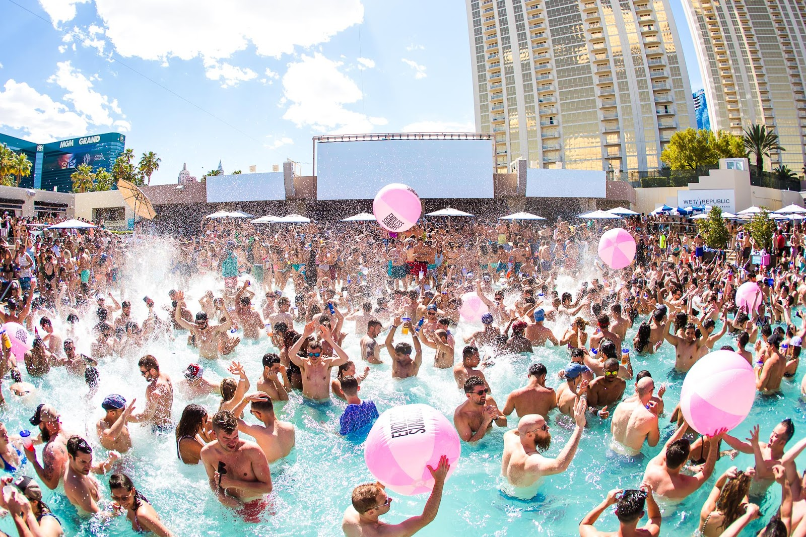 An epic pool party at one of Exodus Festival's dayclubs