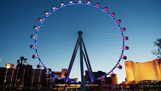 The High Roller at sunset
