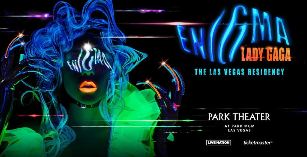 Poster for Lady Gaga's Las Vegas show, Enigma