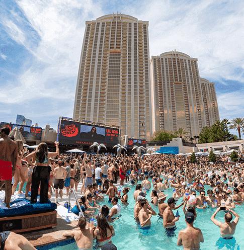 Biggest pool party in Las Vegas