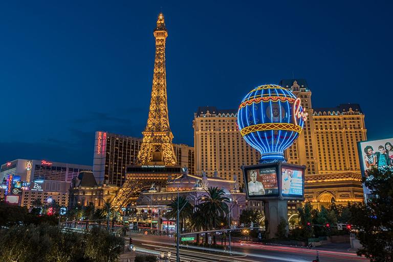 Las Vegas at night time