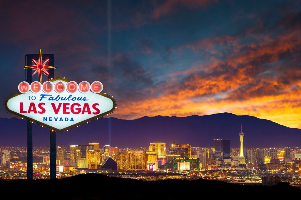 The city skyline of Las Vegas