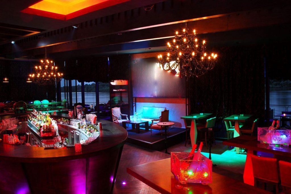 A lounge at a nightclub